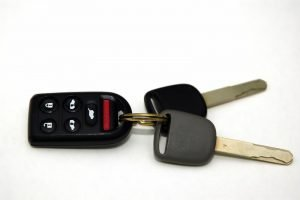 A pair of car keys