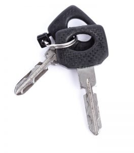 Classic style of car keys