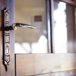 Engraved door lock handle