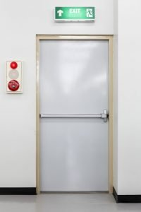 Door with panic bar