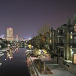 Indianapolis canal and apartment buildings security features