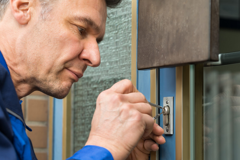 Call locksmith to pick lock