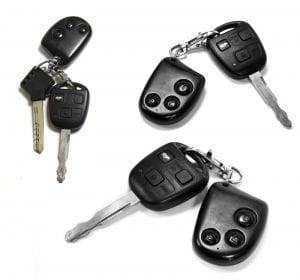 Three duplicate car keys